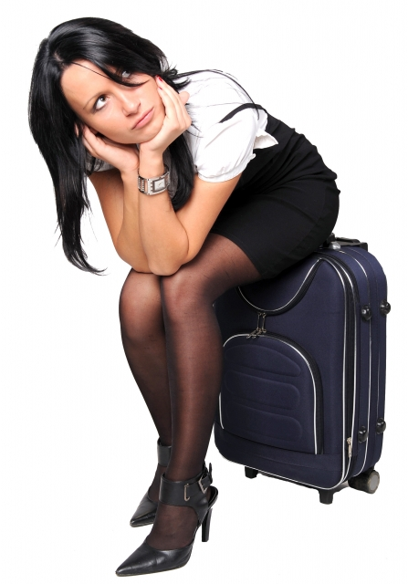 chica maleta