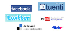 facebook, tuenti, twitter