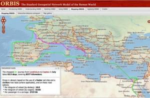 aplicaciones usos humanidades digitales sistema informacion geografico orbis